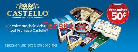 CastelloCoupon800px - Coupon rabais à imprimer de 50¢ sur tout fromage Castello