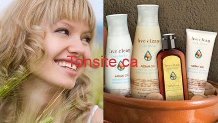 OW LiveCleanArganOilHairProducts ViaLive Clean.com  - Coupon rabais de 1$ à l'achat  de tout produit Live Clean !
