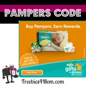 Pampers code 290x290 - Nouveau code Pampers de 15 points!