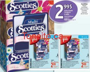 SCOTTIES - Les papiers-mouchoirs Scotties (6 BOITES) à 2.99$ au lieu de 8.19$ !