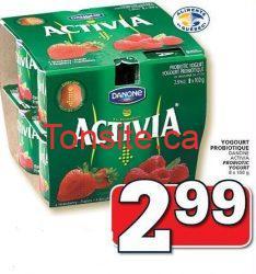 activiacouponrabais - Yagourt probiotique Activia (Paquet de 8) à 1,99$ après coupon!
