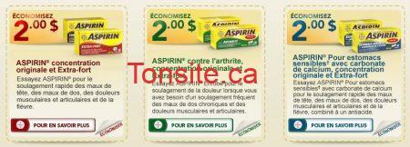 aspirin coupon rabais - Remise postale pour ASPIRIN !