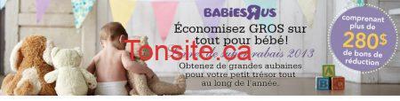 """babiesrus - 280$ de coupons rabais imprimables sur les articles pour bébé Babies""""R""""Us"""