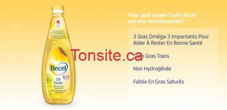 becel huile - Huile Becel à 2.99$ aprés le coupon rabais imprimable de 1$