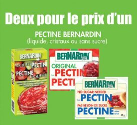 bernardin coupon a imprimer - Coupon rabais à imprimer pour pectine BerNardin liquide, cristaux ou sans sucre !!
