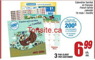 calendrierjeancoutu - Pour seulement 6,99$: Obtenez 200$ d'économies en achetant un calendrier familial chez Jean-Coutu!