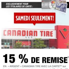 canadian tire 15 290x290 - Canadian Tire: 15% en remise en argent Canadian Tire ce samedi seulement!