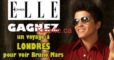 concours bruno mars londres elle 570 - Concours ELLE: Gagnez un voyage à Londres pour voir Bruno Mars
