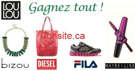 concours lou lou septembre 5701 - Concours LouLou Magazine: Gagnez un Super ensemble Fila, Bizou, Diesel, Maybelline!
