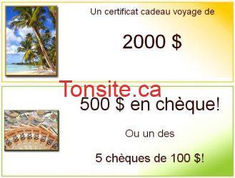concours voyage 2000 - Gagnez un choix d'une destination voyage de 2000$ !