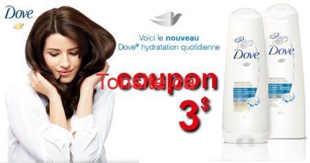 coupon dove 570 - Coupon rabais de 3$ pour shampooing hydratant Dove