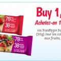 coupon fruitgrain biling 120x120 - Coupon ''achetez un et obtenez un gratuit'' sur les barres de fruits Just Fruit & Grains!