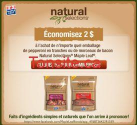 coupon rabais natural selection - Coupon Rabais à imprimer de 2$ sur le pepperonni ou bacon natural selection de mapleleaf