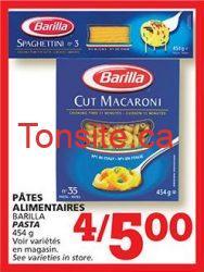 coupon rabais pate barilla - Les pâtes Barilla sont à 0.50 $ après coupon à imprimer !