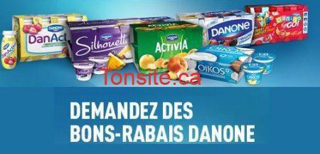 coupons danone - 4 Coupons rabais de 1$ à 2$ sur les produits Danone!