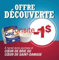 damafro - Coupon rabais à imprimer de 1$ sur le fromage Damafro