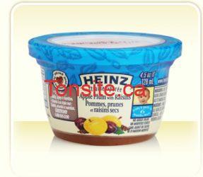 heinz pot - Pots de purée Heinz pour bébé à 0,45$ après coupon imprimable !