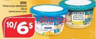 heinz puree et jus coupon rabais - Pots de purée Heinz pour bébé à 0,40$ après coupon imprimable !