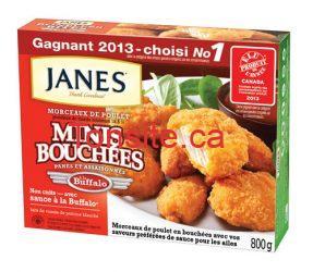 janes - Coupon rabais 2$ sur les minis bouchées JANES!
