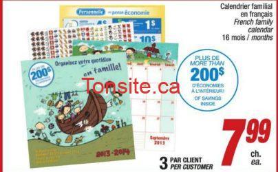 jean coutu calendrier - Obtenez 200$ d'économies en achetant un calendrier familial chez Jean-Coutu