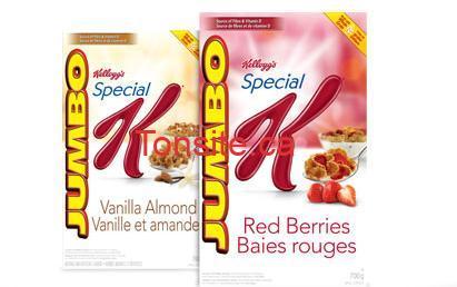 kelloggs jumbo - Céréales Kellogg's Special K Jumbo 700g à 4.99$ au lieu de 7.49$