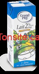 lait 2per2 - Le lait Grand Pré 1L à 1.25$ après coupon!