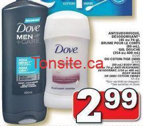mencare - Les gels douche Dove Men+Care à 1.99$ après coupon!