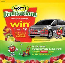 motts - Concours Mott's Fruitsations: Gagnez une des 3 minifourgonnettes Honda Odyssey!