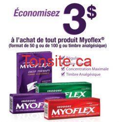 myoflex coupon - Coupon rabais à imprimer de 3$ à l'achat de tout produits Myoflex !