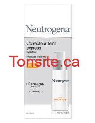 neutrogena rapid tone repair moisturizer spf 30 fr - Correcteur de teint express de Neutrogena à 5,99$ après coupon!