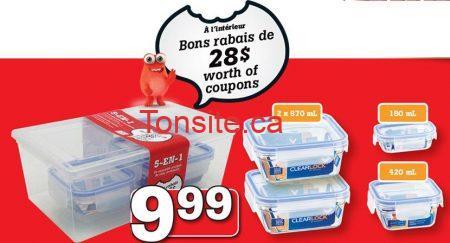 plats plastique - IGA:  Obtenez des bons rabais de 28$ en achetant un ensemble pratico-pratique de 5 contenants à 9.99$