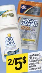 rightguard1 - Antisudorifiques Right Guard à 2 $ après coupon!