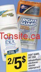 rightguard1 - Antisudorifiques Right Guard à 2 $ après coupon!