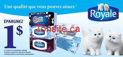 royale mouchoirs - 6 boites de mouchoirs Royale à 2.99$ après coupon!