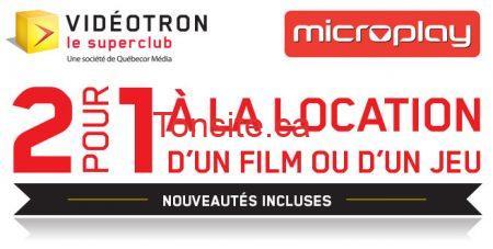 videotronpromo - SuperClub Videotron: Coupon 2 pour 1 à la location d'un film ou d'un jeu!