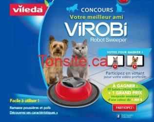 vileda concours - Concours Vileda : gagnez un balais-robot ViROBi!