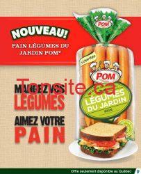 w38 pom 1 - Coupon rabais de 2$ sur miche de pain Légumes du jardin POM