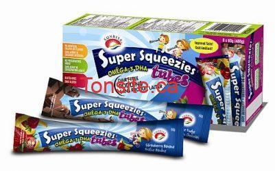Super Squeezies bigger size - Coupon rabais à imprimer de 1$ sur les collations pour enfants Super Squeezies