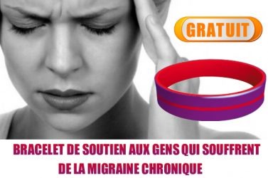 bracelet migraine - GRATUIT: Demandez gratuitement le bracelet de soutien aux gens qui souffrent de la migraine chronique
