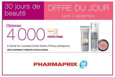 pharmaprix2 9 13 - Pharmaprix: calendrier 30 Jours de beauté (L'offre du jour 2 Septembre 2013)