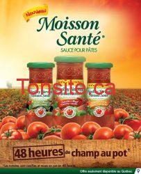sauce moisson sante - Coupon rabais de 1$ sur la sauce pour pâtes Moisson Santé