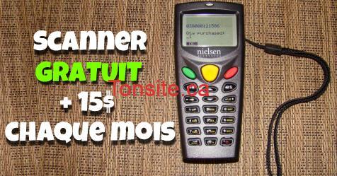 GRATUIT: Obtenez gratuitement un scanner portable pour lire les codes barres et gagnez des supers cadeaux!