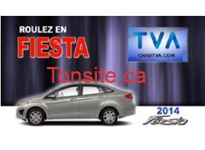 concours tva gagnez une voiture fiesta 2014 d 39 une valeur de 17600. Black Bedroom Furniture Sets. Home Design Ideas