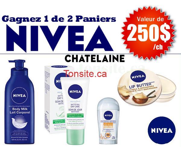 Photo of Concours Châtelaine: Gagner 1 des 2 paniers-cadeaux NIVEA d'une valeur de 250 $ chacun!