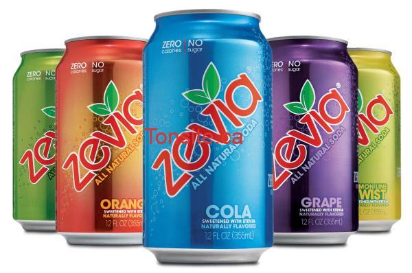 zevia - Coupon rabais de 1$ sur les 6 packs ou les 6 canettes Zevia!
