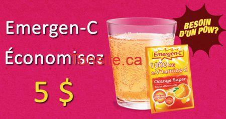 coupon emergen c 570 - Les vitamines Emergen C à 4,99$ aprés coupon imprimable!