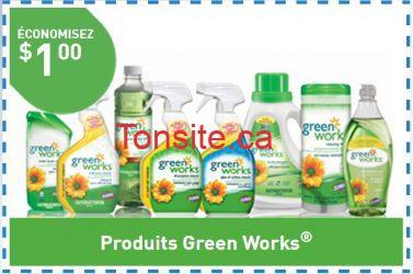 greenwork - Coupon rabais de 1$ sur tout produits Green Works!