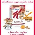 kelloggs granola 120x120 - Coupon rabais de 1$ sur les céréales Spécial K Granola pauvre en gras de Kellog's!