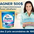 purex concours2 120x120 - Concours Purex: Gagnez 500$ + 1 an d'approvisionnement de Purex UltraPacks ou 1 des 2 prix de 100$!