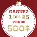saputo concours 120x120 - Concours les 25 jours de cadeaux Saputo: Gagnez 1 de 25 cartes-cadeaux Visa de 500$!